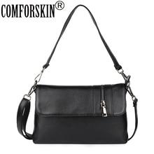 COMFORSKIN Luxurious Cowhide European And American Ladies Messenger Bag Fashion Cover Style Handbag High Quality Bolsas Feminina