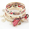 Bijoux Fabric Gold Plated Bracelets Bangles Women Bracelet Manchette Colorful Women Bracelets &Bangles Sets Pulseira Feminina