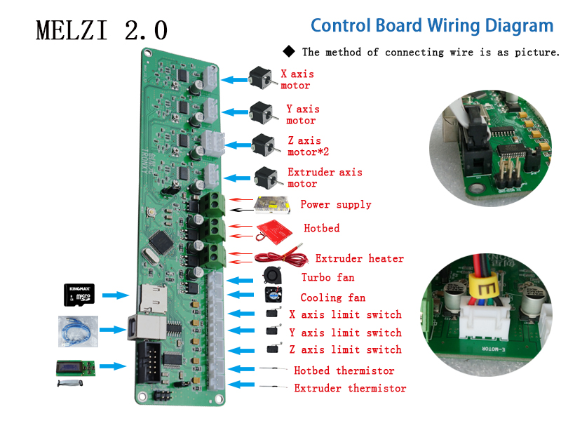 Tronxy 3D printer control board Melzi 2 0 PCB card ATMEGA 1284P P802M mainboard X3A motherboard tronxy 3d printer control board melzi 2 0 pcb card atmega 1284p  at crackthecode.co