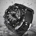 sanda 743 Luxury Brand Men Military Sports Watches Digital LED Quartz Wristwatches rubber strap relogio masculino