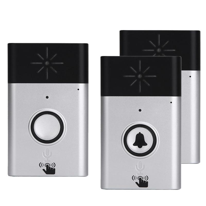 Wireless Voice Intercom Intelligent Doorbell Battery Mobile Interphone 300M Distance Outdoor Transmitter + Indoor Receiver wireless doorbell with speaker voice intercom 300m distance silver glod