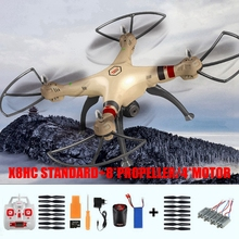 Syma X8HC Remote Control Helicopter with 2.0MP Camera Professional 2.4GHz 4CH Quadcopter Drones 7.4V 2000mAh Battery RC Toys