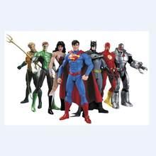 Héroes DC la Liga de la justicia de figuras de acción juguetes de Superman Batman Flash pregunto mujer Linterna Verde Aquaman, Cyborg de PVC figura