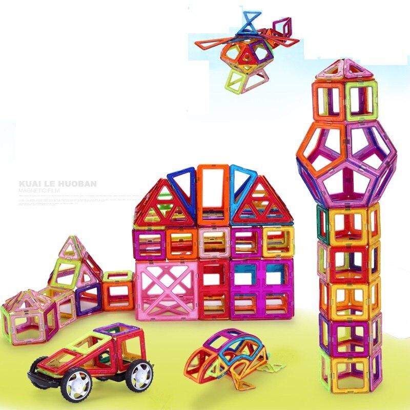 330 шт. Магнитный конструктор construction set модель и строительство игрушки Пластик Магнитная Конструкторы образования Игрушечные лошадки для де