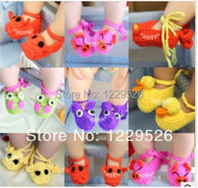 2014Hot Sale Baby Crochet Shoes  Handmade Booties Baby Crochet Pre walkers First Walker Shoes Custom Shoes