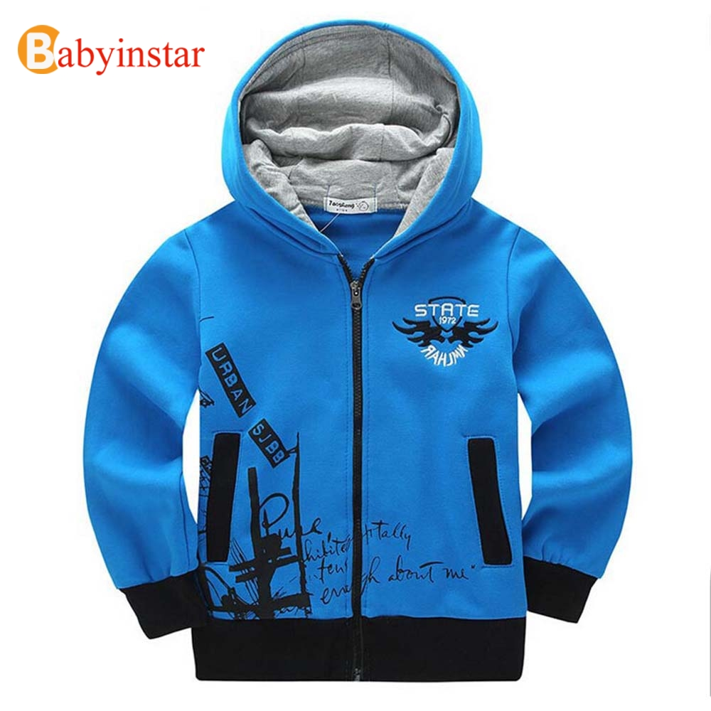Children's Hoodies for Boys 8-14 yrs Kid 2017 Fall Autumn Sweatshirts Child Outerwear Casual Embroidery Teen's Sports Boys Coat