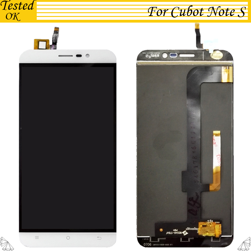 100 Tested Working 5 5inch For Cubot Note S LCD Display Touch Screen Assembly Replacement Part