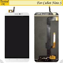 100% тестирование работы 5,5 дюймов для Cubot Note S ЖК дисплей + сенсорный экран сборки заменяемой черный, белый цвет золото цвет