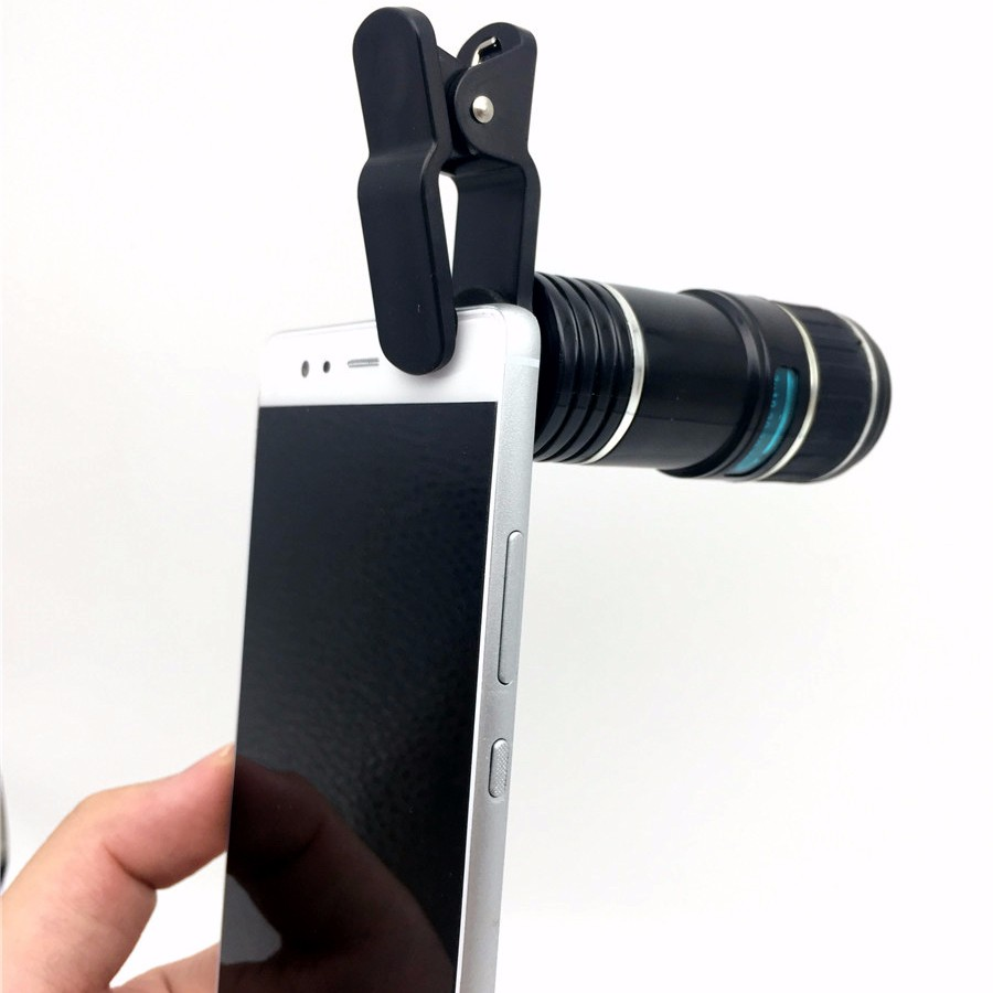 Newest Mobile Phone Camera Lens Kits Fisheye lense Wide Angle Macro Lens 12X Zoom Camera Telephoto Lens For iPhone Samsung LG 8