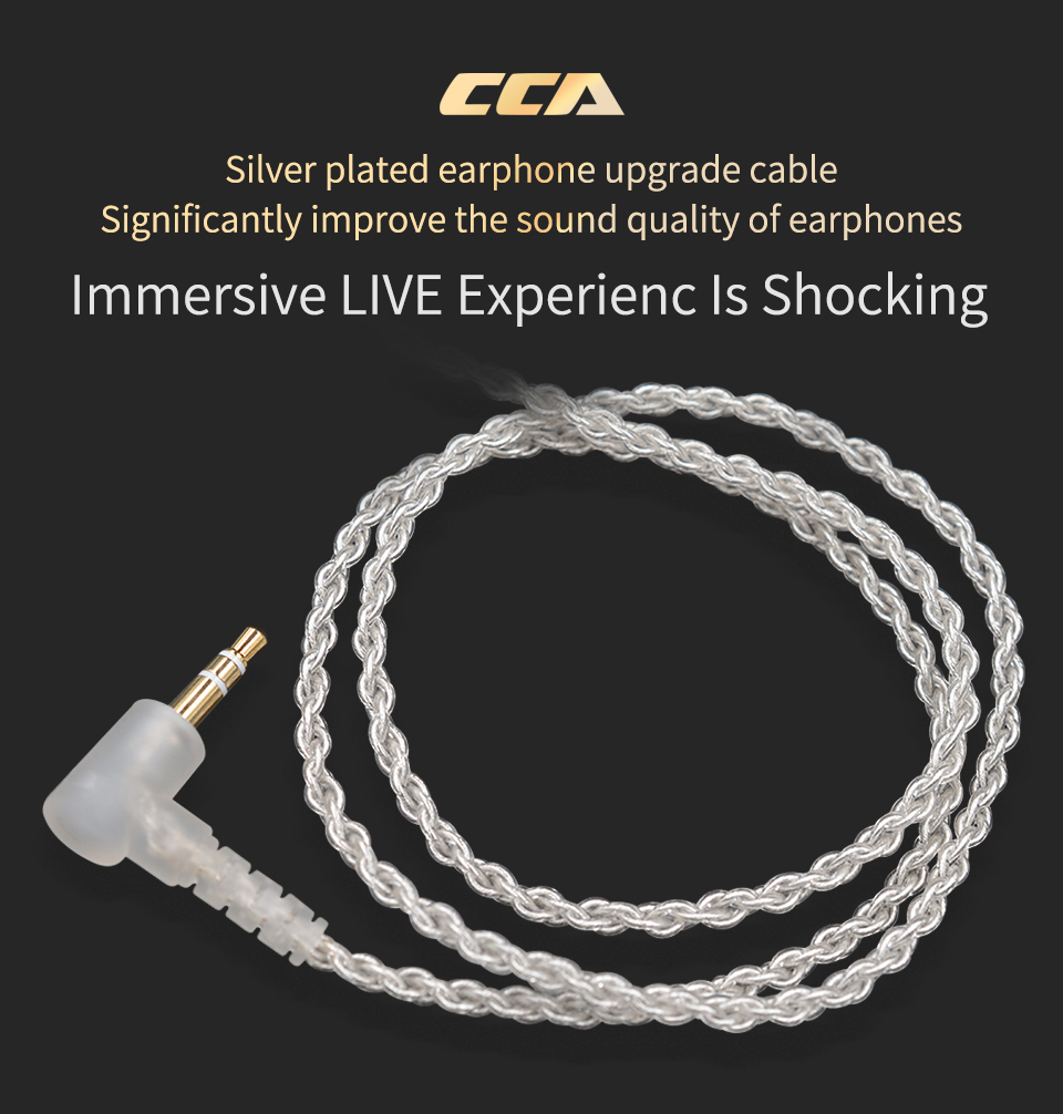 CCA_Silver_Plated_Upgrade_Cable_3.5 mm_Audio_Cable_4_Core_0.75mm_2_PIN_Earphone_Cable_DIY_for_CCA_C10_C04_C16 (1)