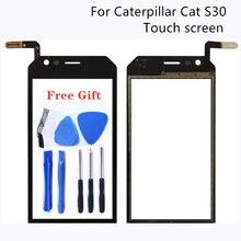 4.5 pollici Per Caterpillar CAT S30 Piatto Tocco di Riparazione Dello Schermo Parti di Lavoro di Test al 100% Nero Dello Schermo di Tocco di Tablet di Marca nuovo Trasporto Libero