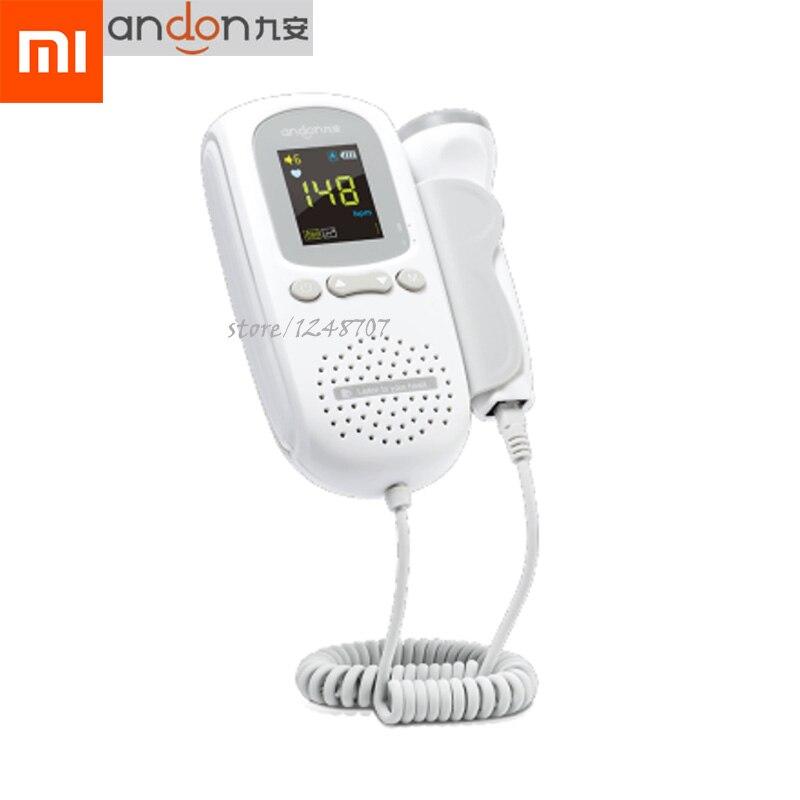 Xiaomi Mijia Andon portátil hogar ultrasónico Detector de frecuencia cardíaca Fetal sin radiaciones bebé Monitor de ritmo cardíaco herramienta de prueba-in control remoto inteligente from Productos electrónicos    1