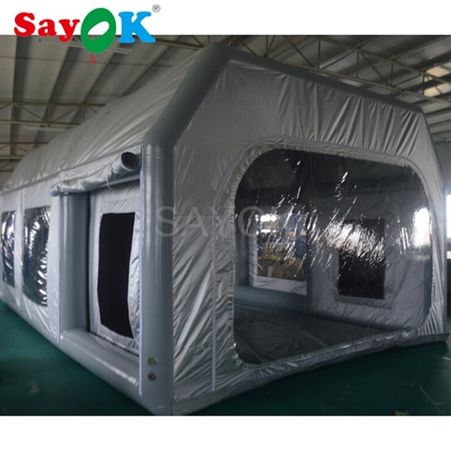 Portable Paint Booth >> Outdoor Inflatable Paint Booth 7x4x2 8m Painting Car Tent Room Portable Spray For