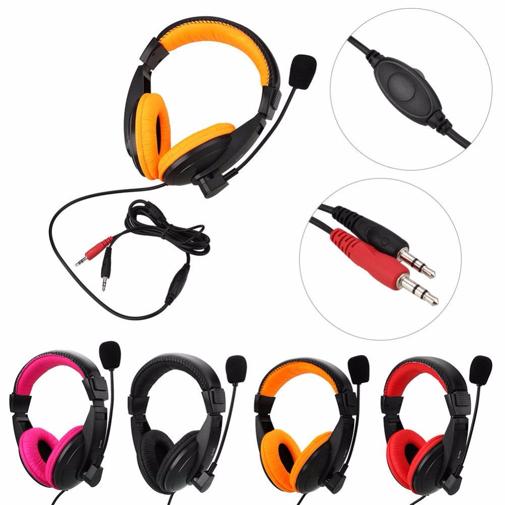 MVpower Gaming Stereo Headphone Bass Earphone With Mic For PC Computer Gamer MP3 Player Portable Music headphones earphone Gift gaming headphone headphones headset deep bass stereo with mic adjustable 3 5mm wired led for computer laptop gamer earphone
