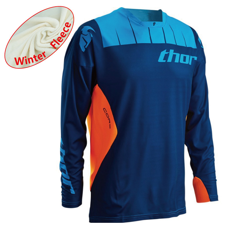 2019 New Winter Thermal Fleece Downhill Cycling Ropa Ciclismo Mountain Bike Jersey Long Sleeves Motocross Jersey Cycling Clothes