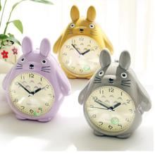 Originality Cartoon Totoro Clock Lovely Children Desk Christmas Gift Student New Year Pendulum jewelry