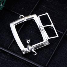 Metalowa rama żywica epoksydowa uv narzędzia rzemieślnicze DIY tworzenia biżuterii naszyjnik kot siedzieć okno złoto srebro ręcznie robione prezenty Charms Bez