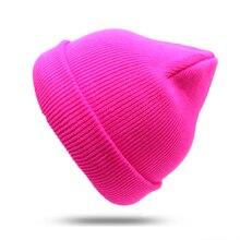 Winter Hat For Men Women Beanie Hip Hop Solid Color Unisex Man Hats Female Casual Warm