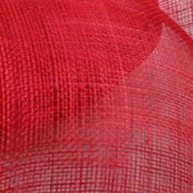Элегантные шляпки из соломки синамей с вуалеткой хорошее Свадебные шляпы высокого качества черного цвета Клубная кепка очень хорошее 17 цветов MSF099 - Цвет: Красный