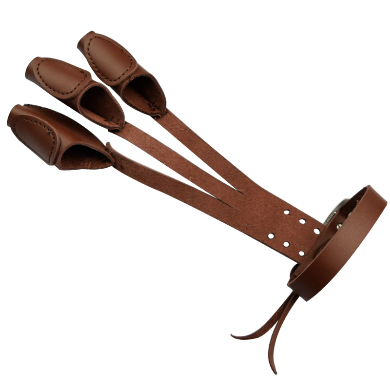 1Pc Glove Brown Color Glover Cattle Leather Archery Traditional Shooting Bow Finger Tab Protector Free Shipping