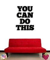 Duvar çıkartmaları vinil alıntı yapabilirsiniz mesaj inspire kelimeler bu