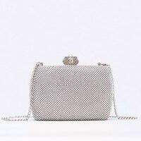 Women Evening Bags Ladies Wedding Party Handbag Bling Diamonds Luxury Purses Sequin Silver Gold ladies Minaudiere 2019 New