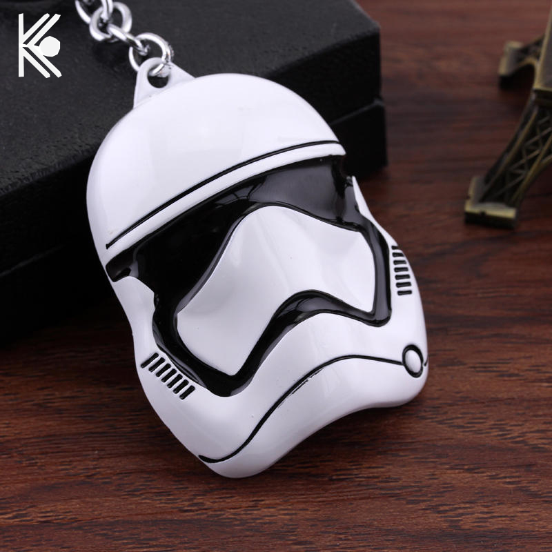 Star Wars Keychain Rebels Stormtrooper Helmet Storm Trooper Pendant Key Chain Darth Vader Swank Novelty Mask Superhero Keyring