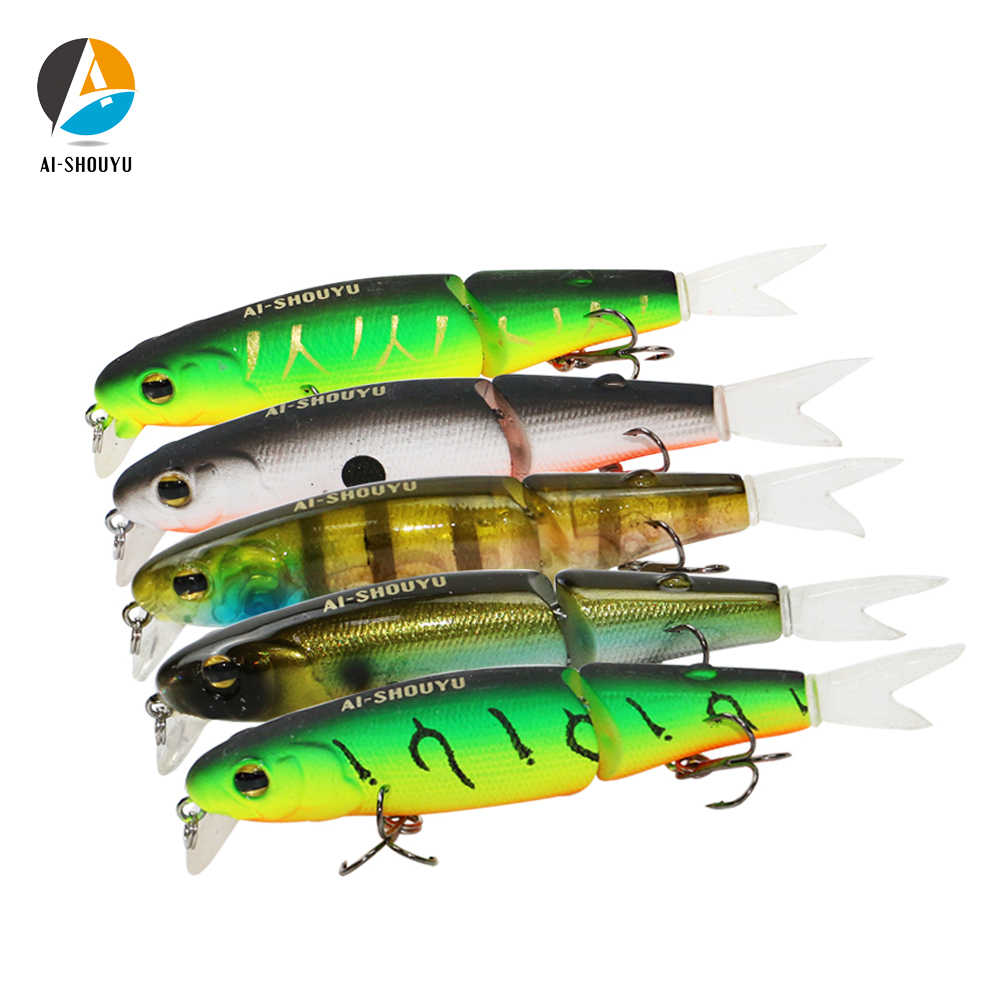 AI-SHOUYU New Wobbler Magallon 70mm 8g Hard Minnow Bait Artificial Bait Swim Bait With Spare Tail Fishing Lure With 2 Hooks