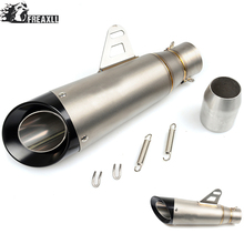 Universal Motorcycle Exhaust Muffler Pipe Modified Motorbike Muffler Scooter Exhaust Pipe Escape For Suzuki GSX R 600 750 SV 650 universal motorcycle exhaust muffler pipe modified motorbike muffler scooter exhaust pipe escape for ktm 125 duke abs 990 super