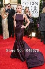 Neue Mode 2016 Lila Scoop Roter Teppich Mermaid Celebrity Kleider Lange Satin Vestidos De Fiesta Abendkleid F & M-808