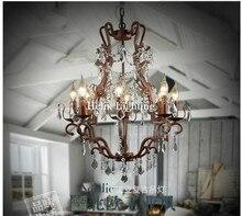 Livraison Gratuite De Luxe Vintage Cristal Lustre Loft E14 LED Pendentif Lampe Suspension Luminaire Pour Salle À Manger Décorations pour La Maison