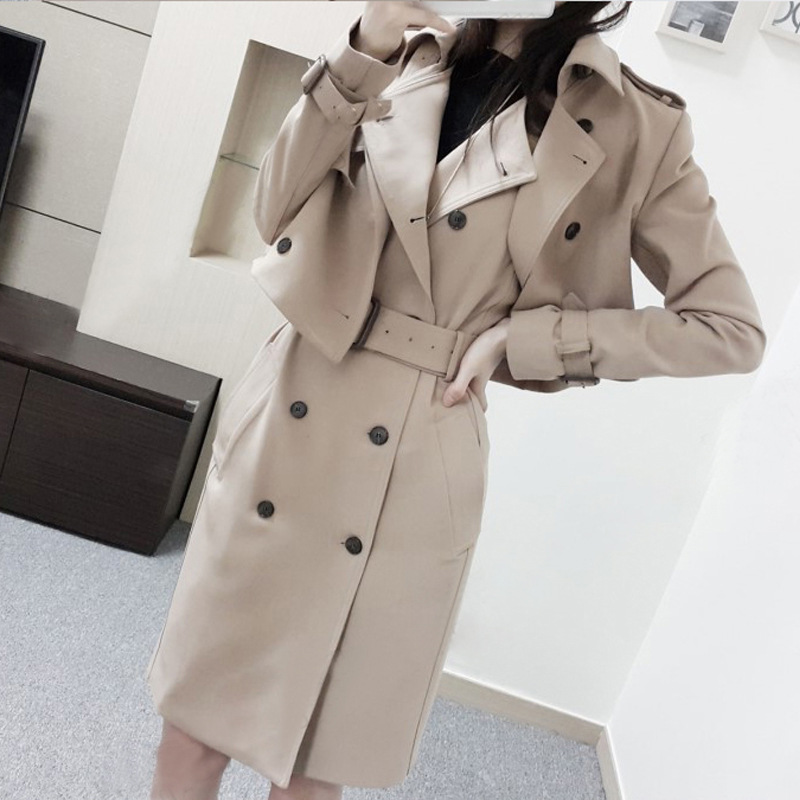 Fashion Khaki Blazers Suit Short Windbreaker Coat & Double breasted Vest Dress Set Womens Two piece Suit for Business Women-in Women's Sets from Women's Clothing    2