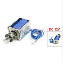 цена на Wholesale Retail DC 12V 400mA 25N Holding 10mm Stroke Pull Type Open Frame Solenoid Electromagnet JF-1039B