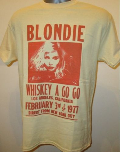 a55b1afd Blondie Retro 70s Whiskey Gig Poster T Shirt New Wave Music W024 Summer  FestivalStreetwear Funny Print
