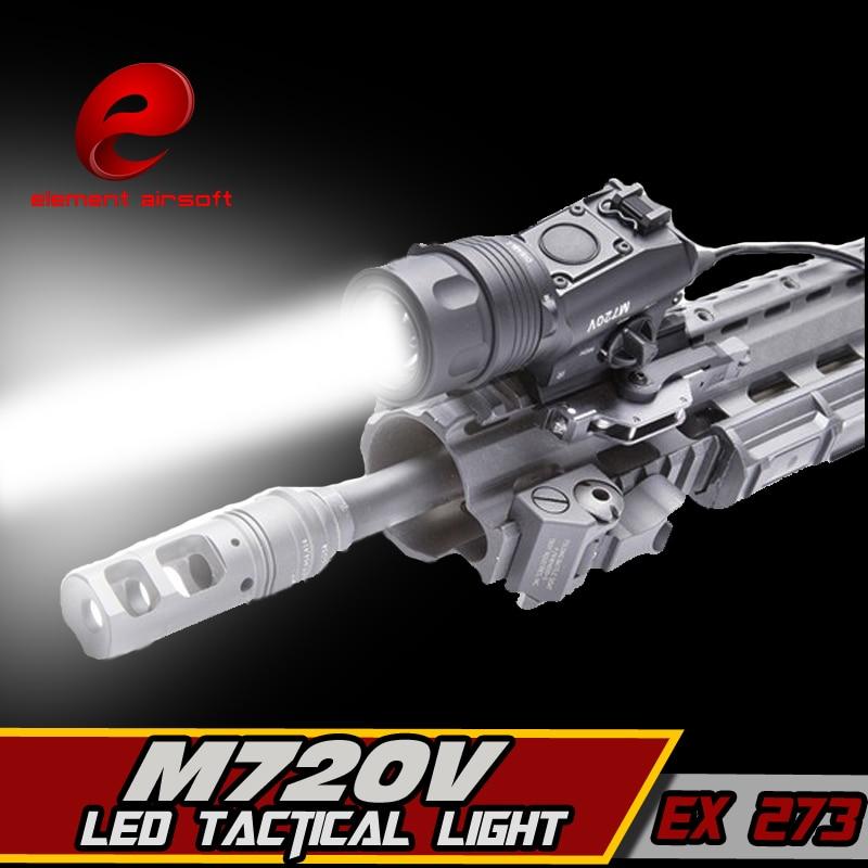 EX 273 Element M720V Tactical Light LED Weapon Light tactical flashlight STROBE VERSION Hunting Weapon Light greenbase wml weapon light tactical constant momentary strobe hunting flashlight white light illuminator long version