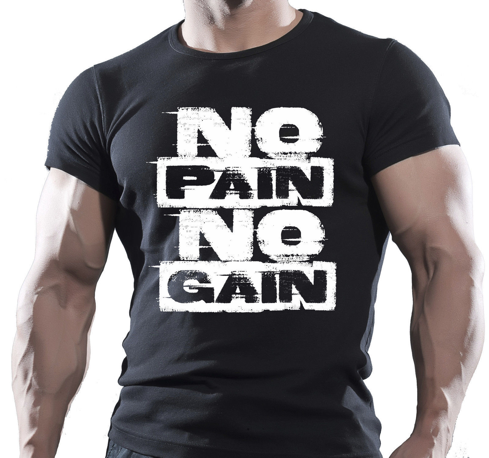 no pain no gain herren mma fitnessstudio bodybuilding motivation t shirt biest 2017 fashion. Black Bedroom Furniture Sets. Home Design Ideas