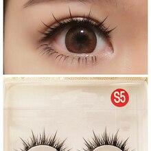 c0c8552ccfc Natural Long Cosplay Makeup Cross Strip False Eyelashes Black Eye Lashes -S5(China)
