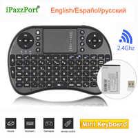 Mini Keyboard I8 English Russian Spanish Mouse 2.4G Wireless Mini Keyboard Touchpad Handheld For Tablet Desktop PC Smart TV BOX