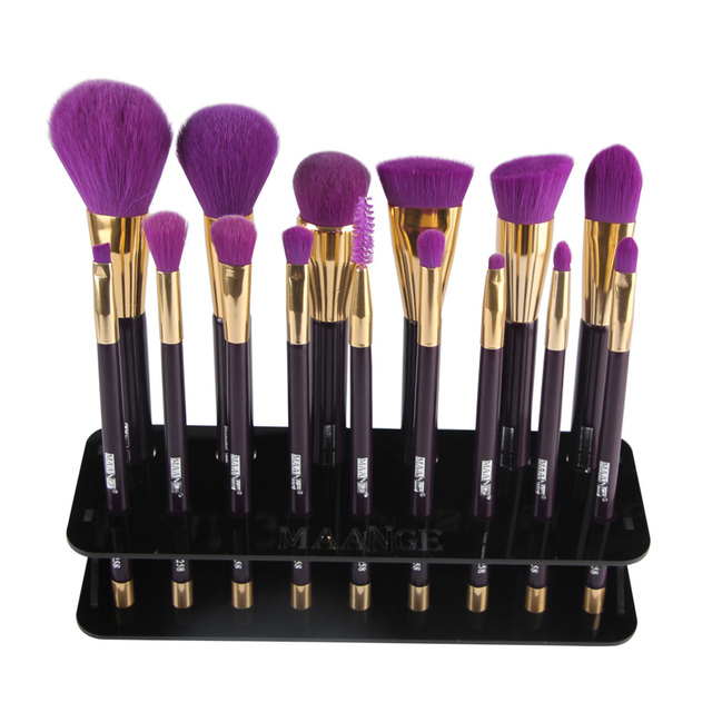 15 Hole Acrylic Makeup Brush Holder