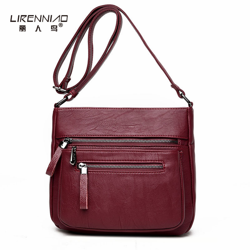 LIRENNIAO Woman Crossbody Bags Casual Messenger Bag Women Leather Handbags Soft Flap Small Shoulder Bag 2018 bolsos mujer Brand nucelle fashion flap handbags brand designer crossbody bags for women blue shoulder messenger schoolbag bolsos mujer de hot sale