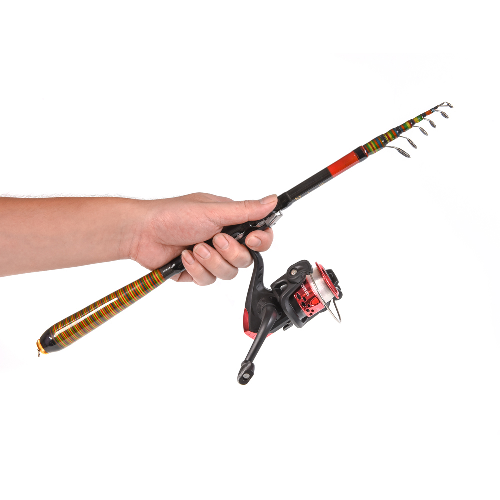 Lixada Carbon Fiber Telescopic Fishing Rod and Reel Combo ...