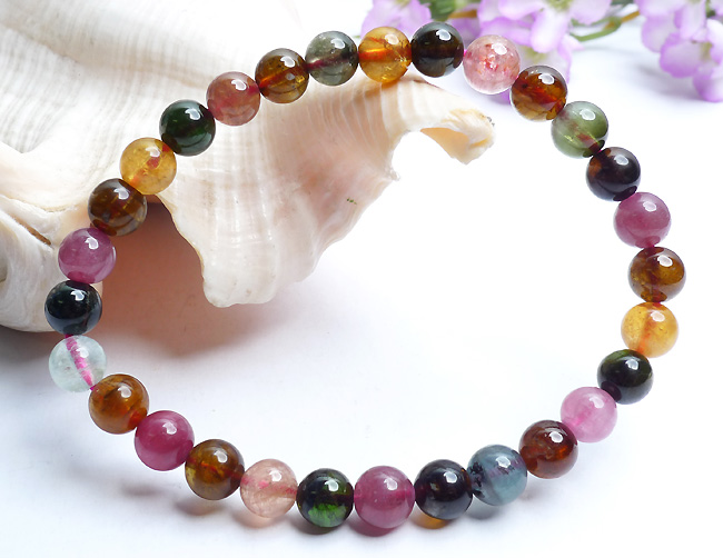 Free Shipping 6mm Genuine Natural Tourmaline Bracelets For Women Femme Mix Colors Transparent Round Crystal Bead BraceletFree Shipping 6mm Genuine Natural Tourmaline Bracelets For Women Femme Mix Colors Transparent Round Crystal Bead Bracelet