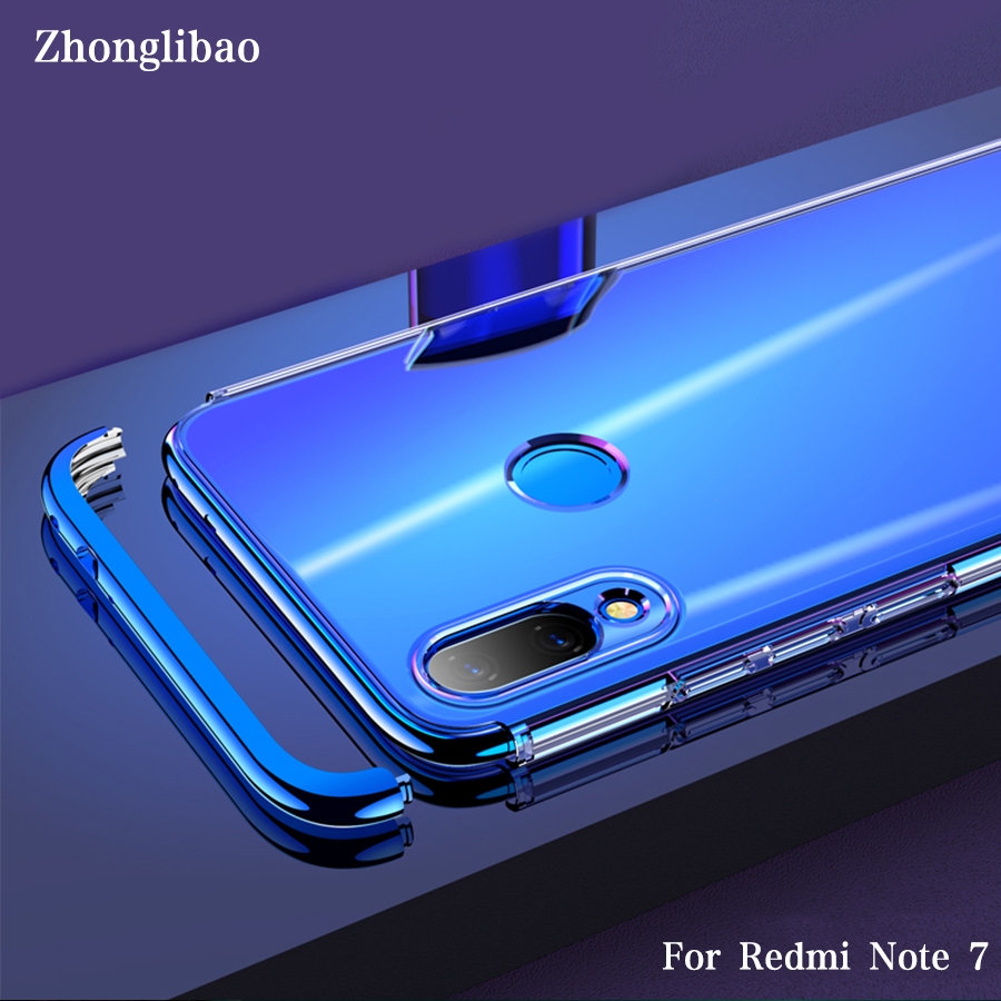 Transparent Hard Case for <font><b>Xiaomi</b></font> Mi Redmi <font><b>Note</b></font> <font><b>7</b></font> Global Redminote7 360 Protection Plating PC Shockproof Clear Armor Back Cover image