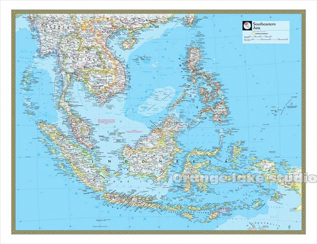 Map Of Asia Full Hd.Us 64 51 32 Off Large Hd Southeast Asia Map Classrooms Office Home Decoration Detailed Antique Poster Wall Chart Cotton Cloth Canvas Painting In