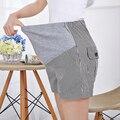 Джинсы для беременных деним полоска короткая лето шорты для беременных женщины Gravidas одежда беременных одежда x1