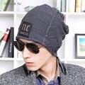 Daisy & Na Men's Knit Label Cap Warm Winter Hat Unisex Woolen Fashion Letters Hip-pop Hat 056