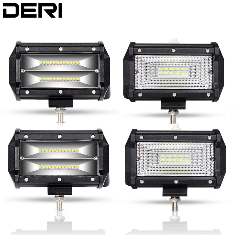 5 inch 72W <font><b>LED</b></font> Work <font><b>Light</b></font> Bar Flood Wide Beam <font><b>led</b></font> working <font><b>lights</b></font> <font><b>car</b></font> <font><b>light</b></font> For JEEP Automobile <font><b>Offroad</b></font> 4WD 4x4 SUV Truck 12V 24V image