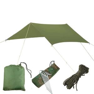 Image 1 - Ultralight Tarp Outdoor Camping Survival Sun Shelter Shade Awning Silver Coating Pergola Waterproof Beach Tent