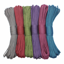 GEGEDA diamond Paracord 4mm 550 Rope Type III 7 Stand 100FT 50FT Paracord Parachute Cord Rope Survival kit Wholesale