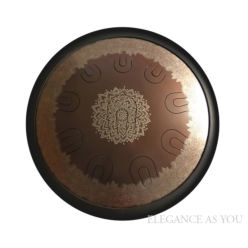 14 pouces vidéo performance art vide en acier langue tambour coloré fleur motif Mini accrocher tambour café couleur HandPan Hank tambour sac - 2